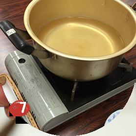 さあ、いよいよメイプルシロップ作り。 じっくりと煮詰めていきましょう。